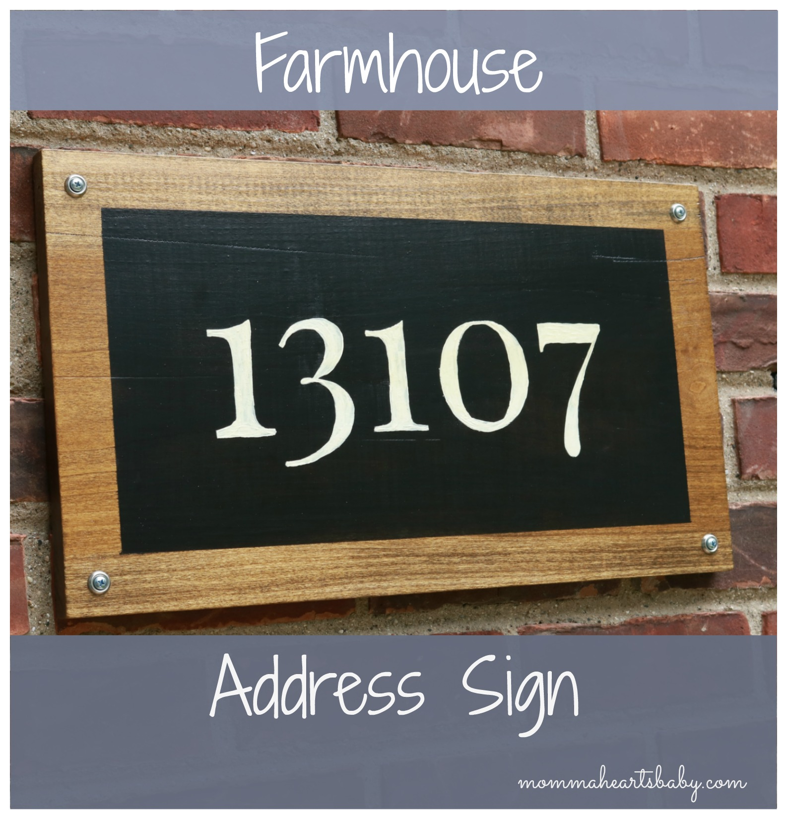 Farmhouse Address Sign Pin