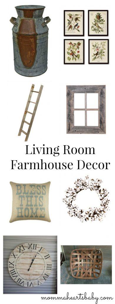 Living Room Farmhouse Decor Pin