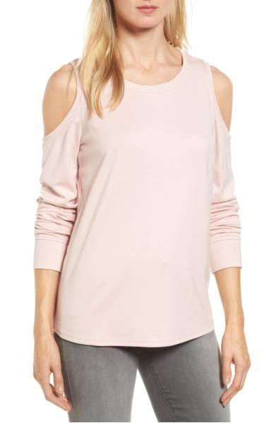 2017 nordstrom anniversary sale: gibson cold shoulder sweatshirt