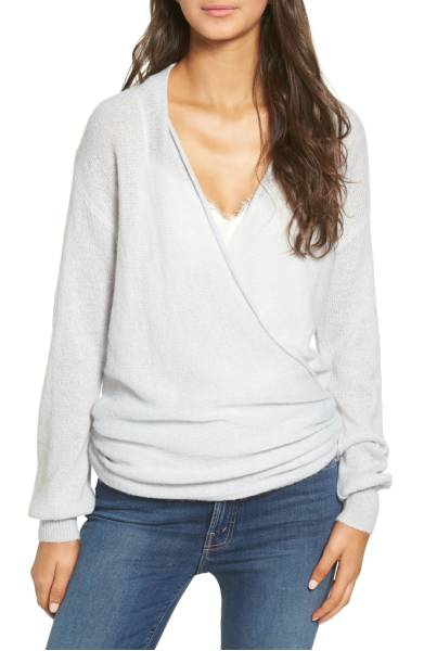 2017 nordstrom anniversary sale: wrap front sweater